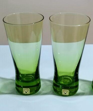 Бокалы для воды времён СССР, 4 шт, высота бокала = 12 см, цена = 20