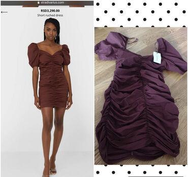 Kupujem - Srbija: Drapirana haljina, kupljena u Stradivariusu. Velika mi je dosta, zato