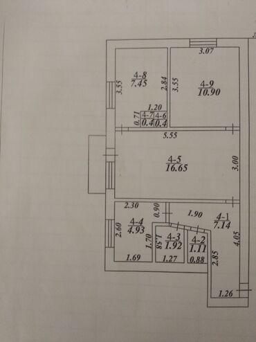 продам дом в токмаке в Кыргызстан: Продается квартира: 3 комнаты, 64 кв. м