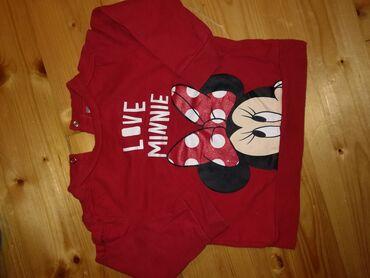 C&A Minnie Mouse dukserica, crvene boje, na mašni Mini Maus su