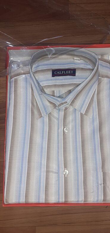 Отдам новую рубашку мужскую размер 43/184 с коротким рукавом Отдам за