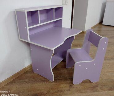 Детская мебель - Состояние: Новый - Бишкек: Многофункциональная детская парта (детский стол, стул) для вашего
