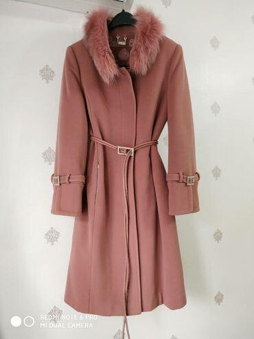 Пальто зимнее❄️натуральный кашемир✔️ воротник песец✔️ цвет-