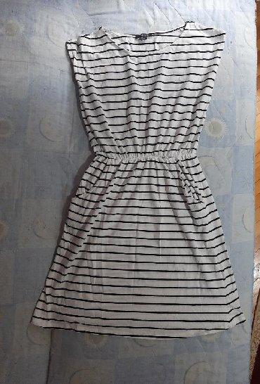 Haljina-na-pruge - Srbija: Nova haljina na pruge sa dzepovima na obe strane, M velicina, samo je