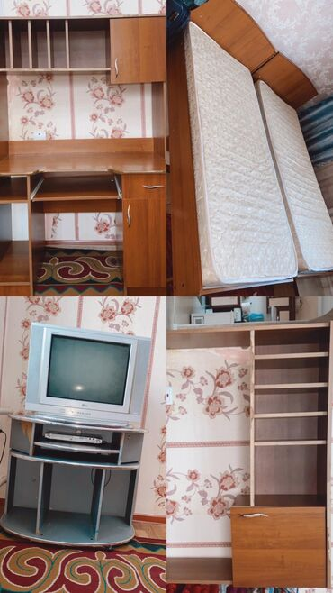Односпальный диван с матрасом  2 шт  Состояние 9/10 2х90  по 4000сом