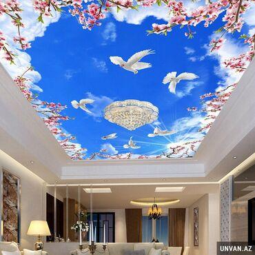Taxta tavanlar qiymeti - Azərbaycan: 3d, 5d dartma tavanlar