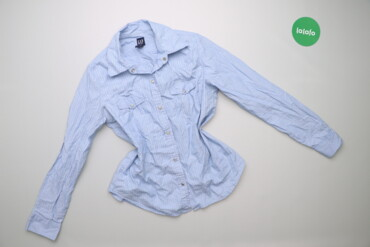 Рубашки и блузы - Цвет: Голубой - Киев: Жіноча сорочка у смужку GAP, p. M    Довжина: 65 см Ширина плечей: 38