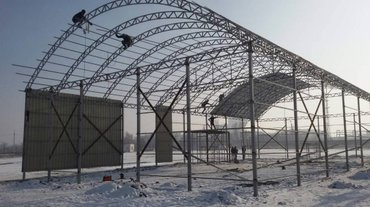 стяжка пола в на квартиру в Кыргызстан: Качественная работа Навесы фермы в Бишкеке и другие регионы