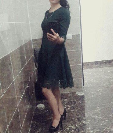 живопись маслом цветы в Кыргызстан: Турец.платье 44размер цвет темно зеленный