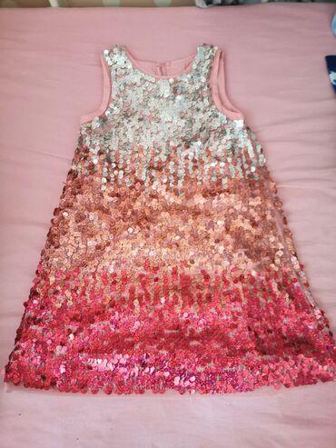 Hm haljina od sljokica vel 116 nossna 2 puta