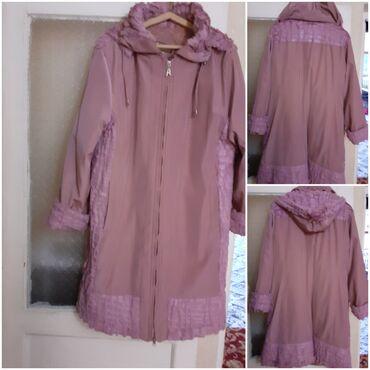 женские куртки зефирки в Азербайджан: Куртка-пальто.внутри тёплая.50-53р.тёмно розового цвета