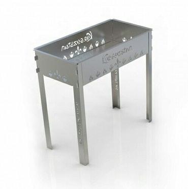 Мангал разборный 600Черная сталь - 2 ммВысота - 600 ммДлина - 600