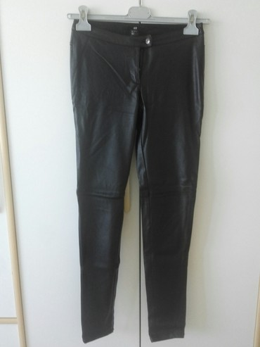 Pantalone-hm-duboke - Srbija: HM pantalone crni skaj slim modelveličina 36 piše 34odlično