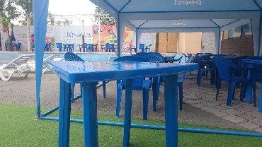 Пластиковые столы и стулья. Производство местное. Стул 500сом. 130 кг