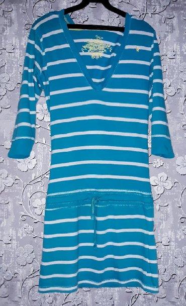 женские платья и туники в Кыргызстан: Платье - туника женская. 100% хлопок.Размер: S, наш 42.Качество и