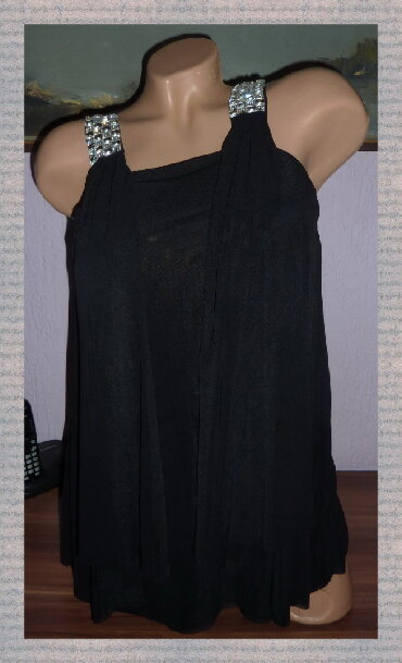 Crna-tunika - Srbija: QUIZ Crna Blago Providna Tunikaširina ramena 27cmširina ispod pazuha