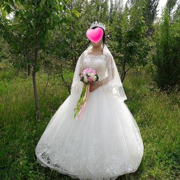 свадебные платья in Кыргызстан   МАТЕРИНСКИЕ ПЛАТЫ: Продаю свадебное платье  качество отличное, новая. Не одивала! Цена до