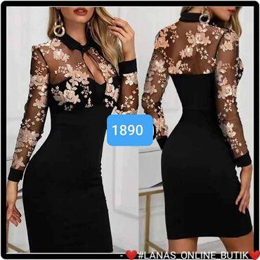 Crna haljina Cipka S m l