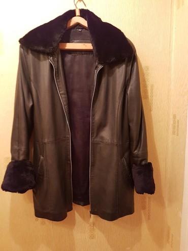 женские леггинсы со вставками в Азербайджан: Натуральная кожаная куртка, со сьемным натуральным мехом воротника и