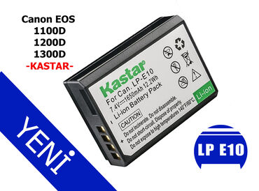 Kastar LP E10 batareyası Canon 1100D batareya Canon 1200d batareyasi C