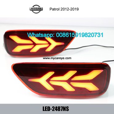 Nissan Patrol Car LED running Bumper Brake Lights Turn Signal lamps in Tīkapur