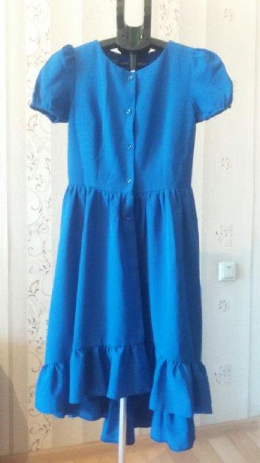 платье из шифона в Кыргызстан: Платье цвета индиго из креп шифона!!!