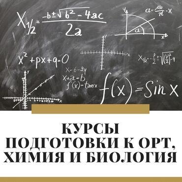 подготовка к орт в Кыргызстан: Репетитор | Математика, Биология, Химия | Подготовка к ОРТ (ЕГЭ), НЦТ