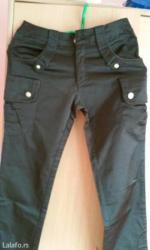 Prelepe pantalone,tamno braon boje sa divnim ukrasnim detaljima,pogodn - Vrnjacka Banja