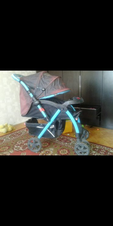 все за 3000 в Кыргызстан: Детская коляска б.у. 3 положения спинки ручка перекидывается.3000