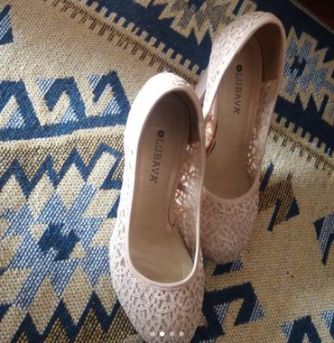 туфли одели один раз в Кыргызстан: Туфли размер 38 бежевый одели один раз