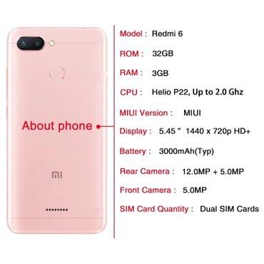Xiaomi Redmi 6 в Gəncə