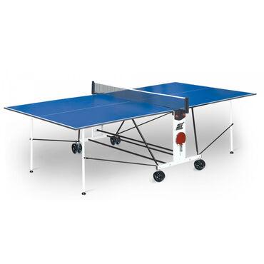 купить теннисный стол в Кыргызстан: Теннисный стол START LINE COMPACT LX с сеткой Blue 6042Теннисный стол