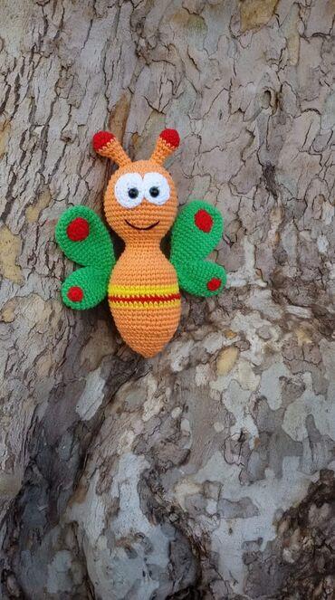 Leptir masna - Srbija: Četvrta - leptir (maskota baby tv-a) Oko 20cm, pamuk, koflin