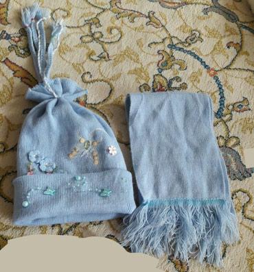 Зимняя шапочка для малыша до 12 месяцев. в Бишкек