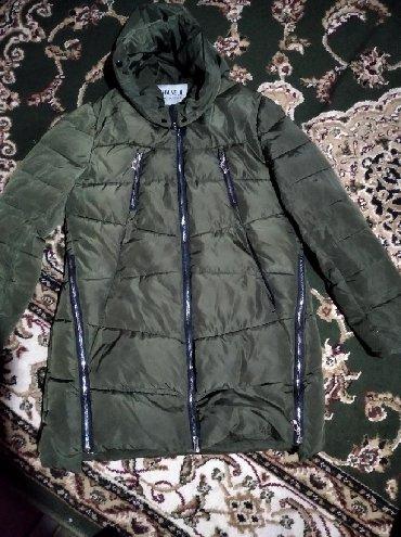 размер мужской одежды 2xl в Кыргызстан: Женская очень теплую куртку наполнитель пух  размер 2XL Цвет хаки 1000