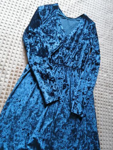 Велюровые изумрудное платье  подойдёт на S, M цвет: изумрудный материа