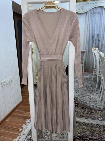 персиковое платье в пол в Кыргызстан: Трикотажное платье