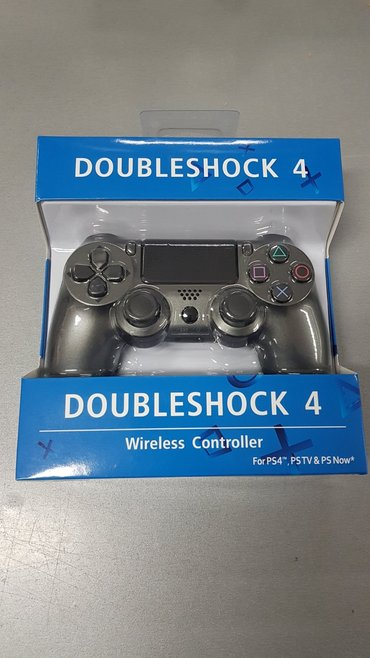 PS4 TAMNO SIVI Doubleshock Dzojstik - NOV   Bežični džojstik TAMNO SIV