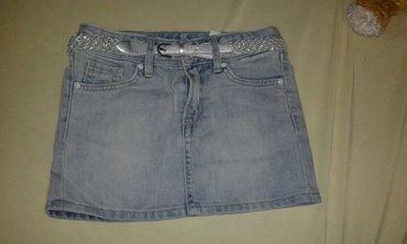 Suknjica za devojcice sivi teksas br. 110 ili br. 6, za male - Smederevo