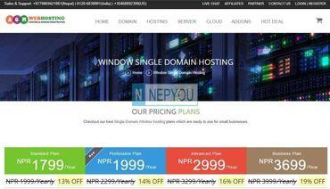 Single windows hosting start at just NPR 1799/year from AGM Web Hos