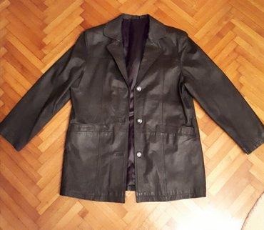 Kožna muška jakna, L veličina - Smederevska Palanka