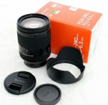 Bakı şəhərində Sony fe 24-240mm f3.5-6.3. yenidir, qutuda. blendası,filteri və ön