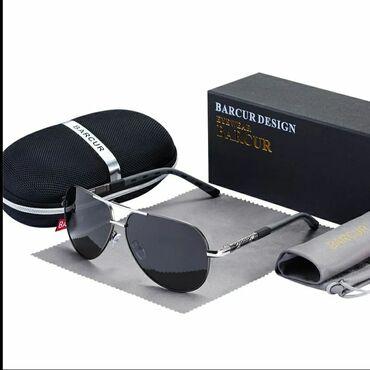 Фирменные очки от BARCUR.Очки-авиаторы, поляризационные солнцезащитные