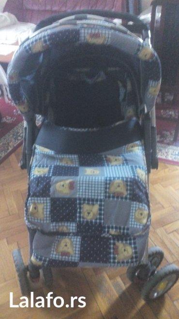 Decija kolica sa navlakom, torbicom.Rucka ima polozaj i napred i - Beograd
