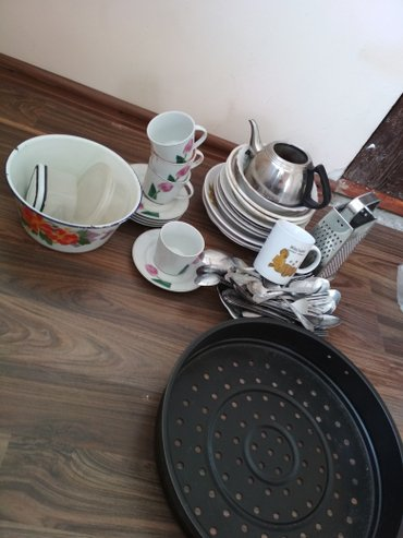 Посуда разная в Кок-Ой