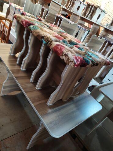 купить спринтер в россии в Кыргызстан: Кухонный стол 6 табуретка. Новый. Ламинат Россия. Размер стола длина 1