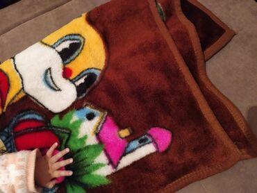 Продаю детский пледик шоколадный цвет новый покупали сестра в Бишкеке