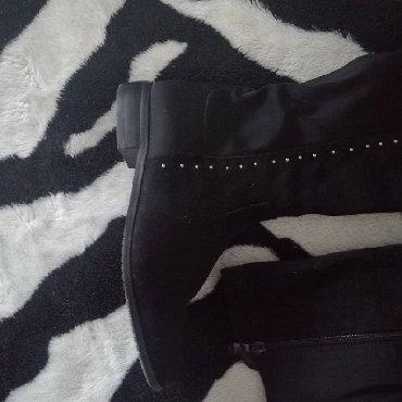 Kozne-cizme-sa-nitnama - Srbija: Crne cizme sa nitnama 38
