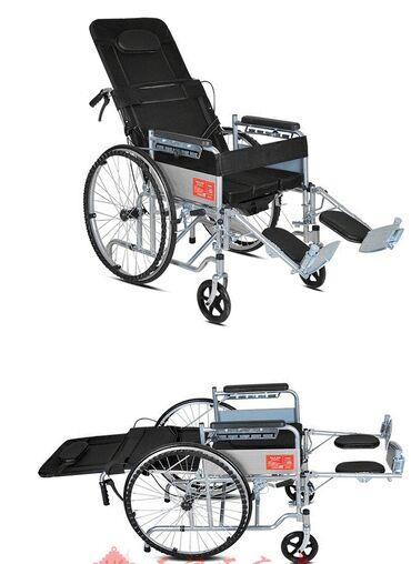 Инвалидная коляска со встроенным туалетным устройством.Каркас –