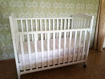 спальные кровати с матрасами в Кыргызстан: Детская кроватка! Практически не пользовались, состояние как у новой!